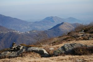 panorama sulla bassa valle di Lanzo